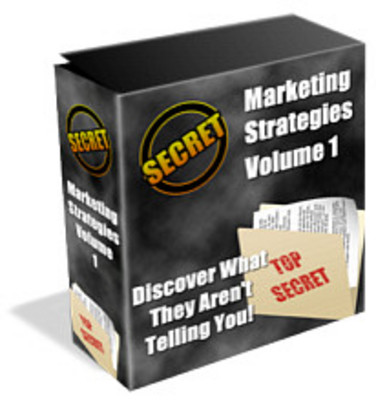 Product picture Secret Marketing Strategies: Volume 1-30